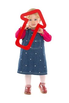 Free Child With Red Dart Stock Photo - 18587470
