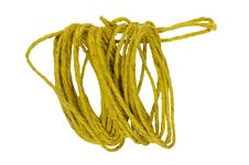 Hemp Rope On White Stock Image