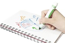 Free The Diagramme And Hand Stock Photo - 18588500