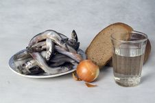 Free Still Life With Fish, Bread And Vegetables Stock Photos - 18588593