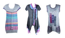 Collage Of The Three Knitted Tunics Stock Image