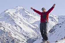 Free Joyful Man In The Mountains Royalty Free Stock Photography - 18588917