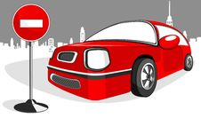 Free Red Minicar Car Royalty Free Stock Photos - 18589808