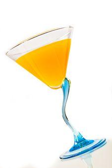 Free Wine Glass With Orange Juice Royalty Free Stock Image - 18589886