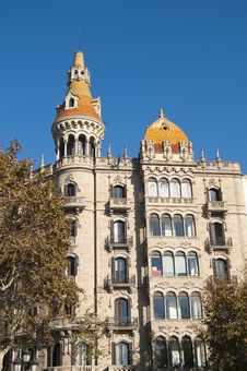 Old Buiding In Barcelona Stock Photography