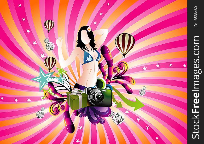 Background fashion woman illustration