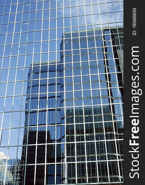 Mirror skyscraper
