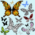 Free Set Abstract Butterflies Stock Image - 18590191