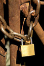 Free Locked Rusty Gate Royalty Free Stock Photo - 18592745