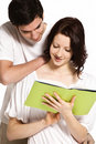 Free Couple Reading Together. Royalty Free Stock Photos - 18596248