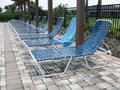 Free Blue Pool Chairs Royalty Free Stock Image - 18597496