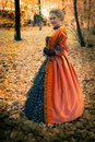 Free Baroque Girl Outdoor Royalty Free Stock Image - 18599566
