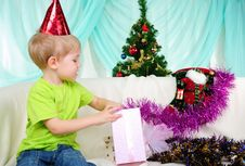 Free Little Boy Getting Ready For The Holiday Stock Photo - 18590070