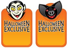 Free Halloween Exclusive Character Labels Royalty Free Stock Images - 18590899