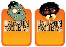 Free Halloween Exclusive Character Labels 2 Stock Photography - 18590912