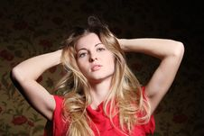 Free Portrait Of The Beauty Young Blond Girl Stock Photos - 18590963