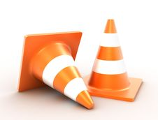 Free Traffic Cones Royalty Free Stock Photos - 18591798