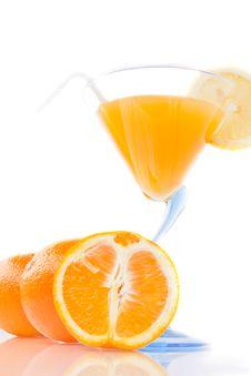 Free Wine Glass With Orange Juice And Fruit Stock Image - 18592321