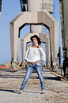 Posing On The Docks Royalty Free Stock Photo