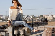 Free Sitting On The Docks Royalty Free Stock Images - 18594729