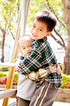 Free Hug Brother Royalty Free Stock Photography - 18594927