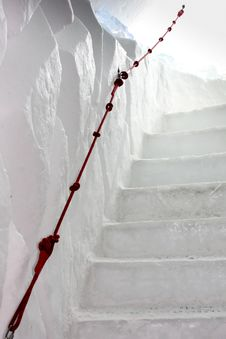 Free Ice And Snow Stairway Royalty Free Stock Photos - 18596798