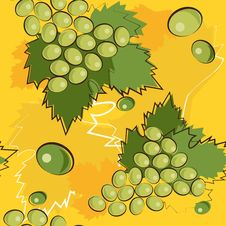 Free Pattern Of Grapes Royalty Free Stock Images - 18597159