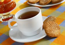 �up Of Tea And Cookies. Royalty Free Stock Photography