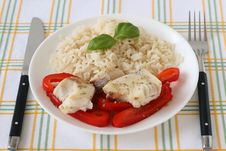 Free Boiled Fish Pepper And Rice Stock Image - 18598161