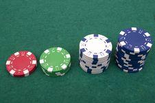 Free Poker Chips Royalty Free Stock Image - 18598196