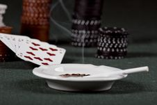 Free Poker Gear Vintage Royalty Free Stock Photography - 18598237