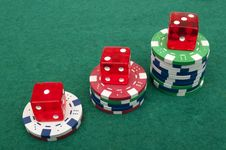 Free Dice And Chips Stock Photography - 18598252
