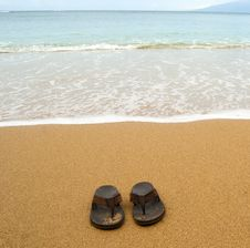 Free Beach Sandals Royalty Free Stock Photo - 18598275