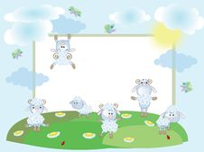 Free Summer Frame With Sheep Royalty Free Stock Images - 18598529