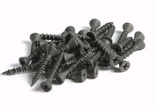 Heap Of Metal Screw Stock Image