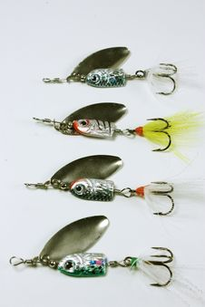 Free Fishing Lures Stock Photo - 18599100