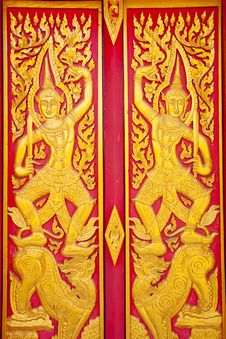 Free Door Of Thai Style Royalty Free Stock Photos - 18599718