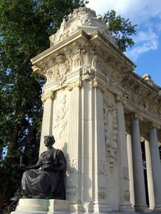 Part Of King Alfonso XII Monument Royalty Free Stock Photos