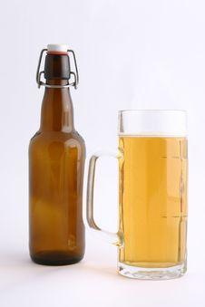 Bottle Beer And Mug Royalty Free Stock Image