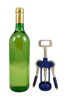 Free Bottle And Corkscrew Stock Photos - 1864953
