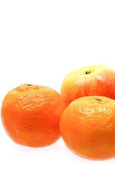 Free Apple And Mandarines Stock Image - 1865301
