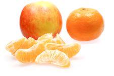 Free Apple And Mandarines Royalty Free Stock Photo - 1865325