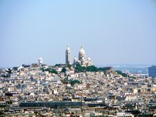 Free Sacre Coeur From The Eiffel Tower Stock Image - 1866091