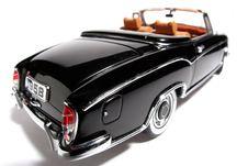 1958 Mercedes Benz 220 SE Metal Scale Toy Car Fisheye 2 Royalty Free Stock Photo