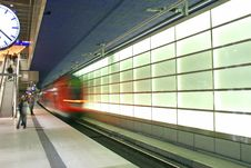 Free The Subway In The Potsdamer Platz Royalty Free Stock Photography - 1867517