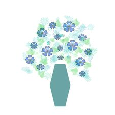 Free Bouquet In Blue Vase Royalty Free Stock Photos - 1867658