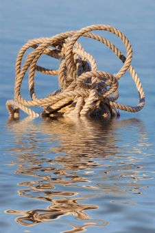 A Rope On A Stone Stock Photography