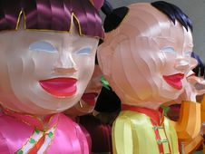 Free Happy Chinese Lantern Dolls Royalty Free Stock Images - 1868779