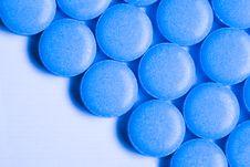Blue Pills Stock Photos