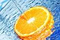 Free Orange In Water Splash Royalty Free Stock Photography - 18600337